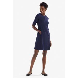 MM Lafleur Emily Dress Navy Blue A-Line Pockets